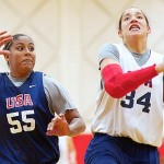 Long before USA Basketball invites, we knew Kaleena Lewis (on left) would be a star. *Photo by Glenn Nelson