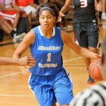 With football season upon us, Blue Star Florida wing Shaneese Bailey did her best Larry Fitzgerald impression during the Elite 32 Summer Jam.