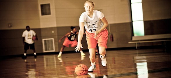Courtney Ekmark of Phoenix, Ariz., is adding to her ability to create off the bounce.