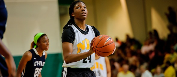 Myisha Hines-Allen of Montclair, N.J., has played her way into the All-American discussion while leading the New Jersey Sparks. *Photo by Ty Freeman