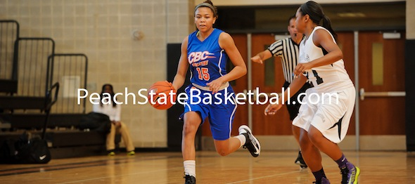 Stephanie Watts of Monroe, N.C., has used PeachStateBasketball.com event stages to play her way into the ELITE 25. *Photo by Ty Freeman