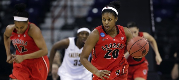 Shacobia Barbee came in an made an immediate impact. She made the SEC All-Freshman & All-Defensive teams.*Photo courtesy of Georgia Athletics