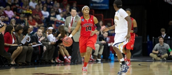 Before her time at Georgia and in the WNBA, Jasmine James was a standout at the Nike RSA in Georgia.*Courtesy of Georgia Athletics
