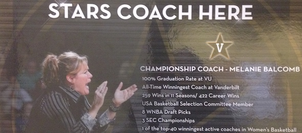 Coach Melanie Balcomb led the Vanderbilt Commodores against Dayton on Sunday.*Photo by Brandon Clay