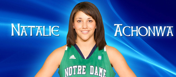 Before the two national title game appearances with Notre Dame, we introduced our readers to Natalie Achonwa.*Courtesy of ND Athletics