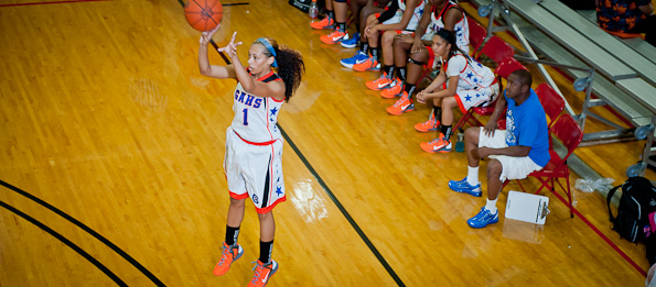 Before she enrolled at Chipola JUCO (FL), Tiffany Lewis was making shots at TeamPSB events.*Photo by Ty Freeman