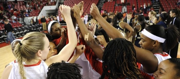 The 2013-14 Georgia Lady Dawgs are all in to try and add another SEC trophy to the case here at Stegeman Coliseum. *Courtesy of Georgia Athletics