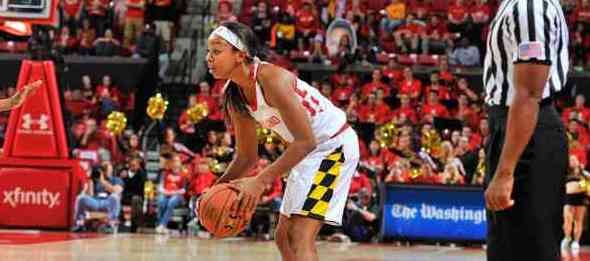 Before Lexie Brown was an ELITE 25 prep or a two-game HS All-American, we had an eval. *Photo by Maryland Athletics