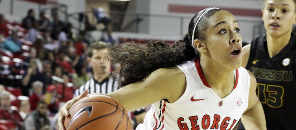 Before Marjorie Butler took her point guard skills to Athens, she was an Elite Basketball Academy All-American. *Courtesy of Georgia Athletics