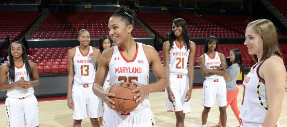 Alyssa Thomas looks to lead the Terps to another victory in their last Big Ten/ACC Challenge as a member of the ACC. *Courtesy of Maryland Athletics