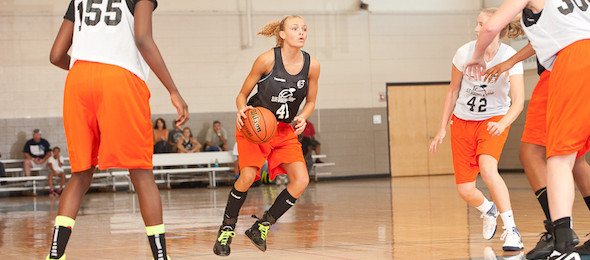 Class of 2015 guard Alexis Robinson of Ashland, Ky., used Elite Basketball Academy events to vault into the national spotlight. *Photo by Ty Freeman