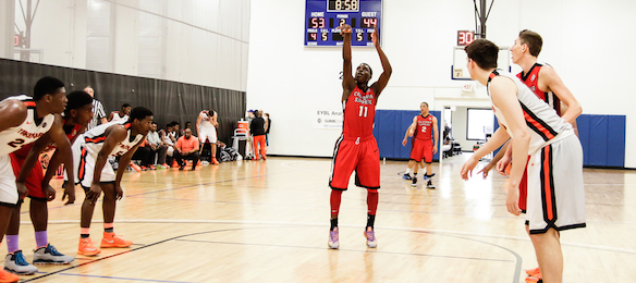 Like Minnesota three weeks ago, all eyes were on UCLA commit Aaron Holiday at NBA Top 100. *Photo by Jon Lopez/Nike