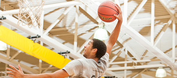D'Marcus Simonds flew into the ELITE60 at the 2014 EBA All-American Camp. Ty Freeman / @TyPhotoG