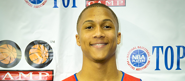 Class of 2015 wing Brandon Sampson of Baton Rouge, La., is one of the best uncommitted wings in the nation. Read his evals and see high highlights here. Photo cred - Davide de Pas