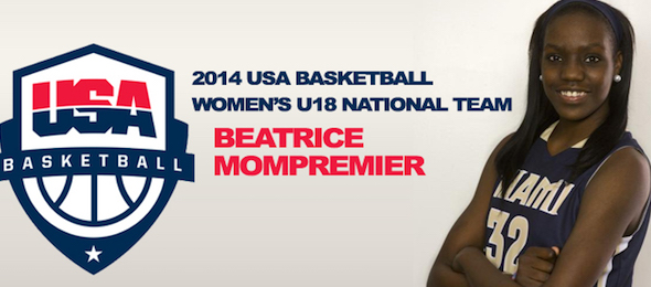 Beatrice Mompremier of Miami, Fla., chose Baylor after a summer that saw her make the USA 18-and-under team.  Courtesy of Miami Suns