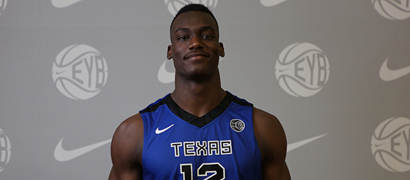 Class of 2015 post player Djery Baptiste of McKinney, Texas, is a beast on the interior. Read what he will bring to Commodores next season. Photo cred - Jon Lopez/Nike