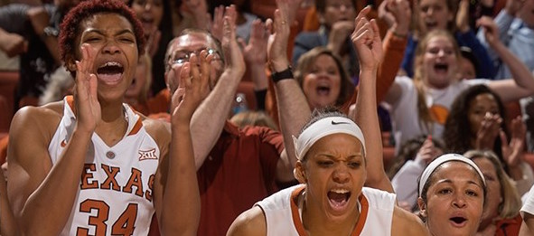 The Longhorns are fired up for a chance to beat No. 24 Oklahoma on their home floor.  *Texas Athletics