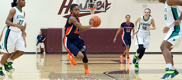 The No. 4 player in the class of 2016, Crystal Dangerfield of Murfreesboro, Tenn., led the Lady Blaze to victory last Friday night. Read more on the Blackman / Riverdale rivalry here. Photo cred - Chris Hansen