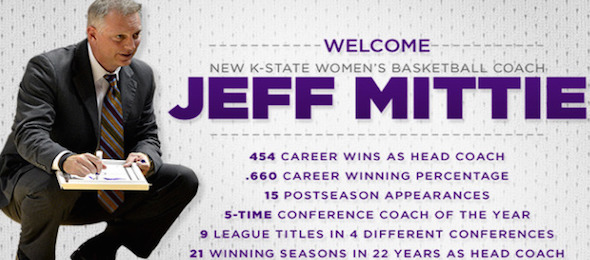 New Kansas State coach Jeff Mittie has a track record that speaks volumes about his actions.  *Courtesy of Kansas State Athletics