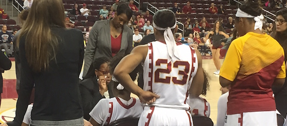 USC coach Cynthia Cooper has her team's full cooperation and total attention.  * Brandon Clay / @BrandonClayPSB