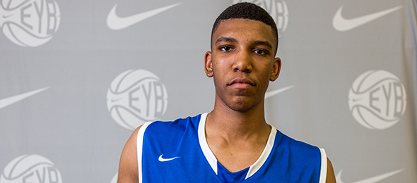 Class of 2016 center Tony Bradley burst on to the basketball scene quickly last year. Read why all of the college coaches are chasing him. Photo cred - Jon Lopez/Nike