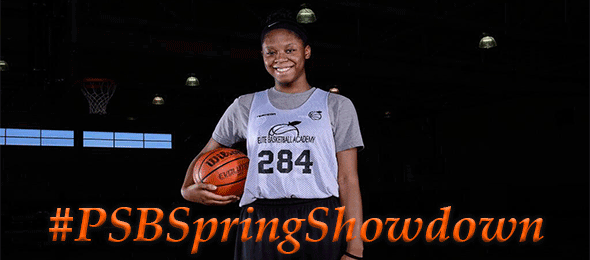 The 2015 Spring Showdown SOLD OUT with 84 teams featuring ProspectsNation.com 4 Star Rated 6'5 Faustine Aifuwa of the Georgia Hoopstars. *Ty Freeman / @TyPhotoG