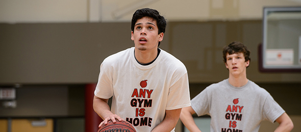 Class of 2016 guard Christian Mancillas of Dacula, Ga., wowed the evaluators at the camp with his passing ability. Read more on the sophomore guard here. Photo cred - Ty Freeman/PSB