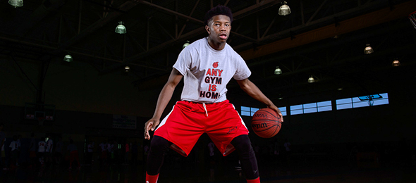 Class of 2016 point guard Joshua Hurst of Atlanta, Ga., was one of the better point guards at the EBA Top 40 Workout. Read about him and others here. Photo cred - Ty Freeman/PSB