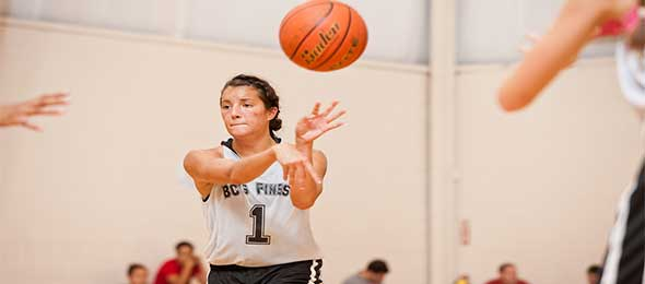 #EBAAllAmerican 2016 Aislinn Konig stole the show in Day 1 of #PSBTipOffClassic.