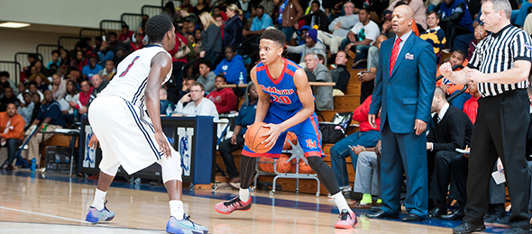 Dematha coach Mike Jones has a budding star in Markelle Fultz of Upper Marlboro, Md. In our past three evaluations of Fultz, he has stood above the rest. Photo cred - Ty Freeman