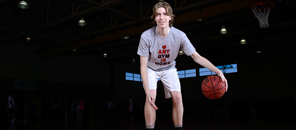 Class of 2016 forward Will Springer of Buford, Ga., showed his versatility at the EBA Top 40 Camp this March. Read about his game here. Photo cred - Ty Freeman/PSB