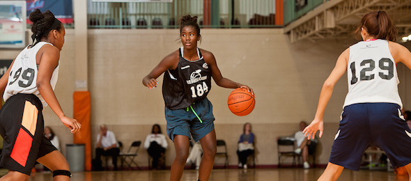 Class of 2015 wing Destinee Walker of Fla., showed the skill at USA that made her an EBA All-American.  Ty Freeman / @TyPhotoG