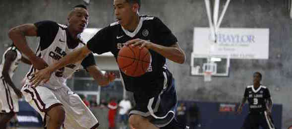 Class of 2016 wing Jayson Tatum of St. Louis, Mo., has used the EYBL to sharpen his craft. Jon Lopez / Nike