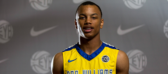 Justin Robinson is headed to Virginia Tech. Read about the class of 2015 point guard's game here. Photo cred - Jon Lopez