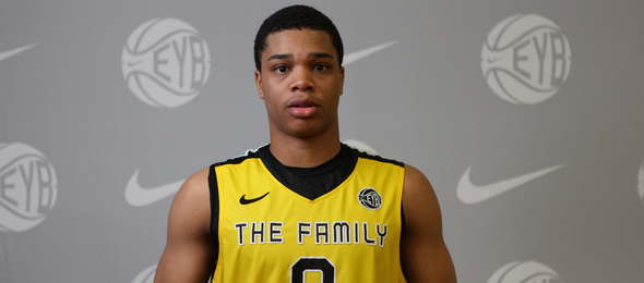 Class of 2016 wing Miles Bridges of Detroit, Mich., has earned his five-star rating through his EYBL play.  Jon Lopez / Nike