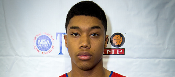Class of 2016 point guard Sedrick Barefield of Corona, Calif., is a play-maker. Read what he will bring to Southern Methodist next season. Photo cred - David de Pas