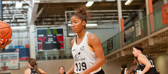 Like EBA Camp, class of 2015 guard Te'a Cooper of Ga., was ready to have the ball in her hands at USA.  Ty Freeman / @TyPhotoG