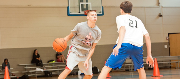 Garrett Gilkeson of Mineral Wells, W.Va., blew by the competition at the 2014 #EBAAllAmerican Camp.  *Ty Freeman / @typhotog
