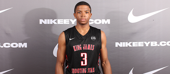 Class of 2016 point guard Xavier Simpson of Lima, Ohio, played his way into the ELITE 100 after solid showings on the EYBL circuit and NBPA Top 100 Camp. Photo cred - Jon Lopez/Nike