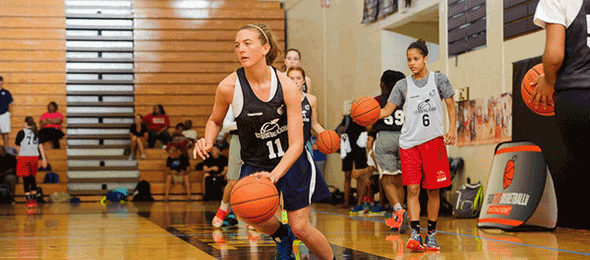 2017 Ashtyn Baker of Southaven MS. showed her ability to control the tempo as a lead guard at #EBASuper64 in June of 2015.