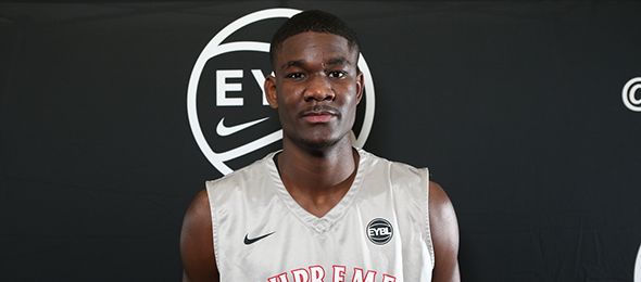 Class of 2017 post Deandre Ayton of Hillcrest Prep (AZ) is a projected lottery pick in the 2018 draft class. (Photo by Jon Lopez)