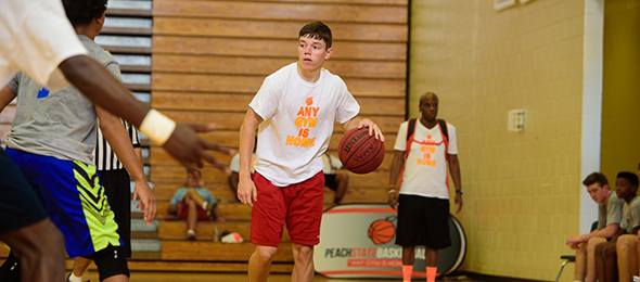 Class of 2016 point guard Bobby Anderson of Cattlesburg, Ky., represented Boyd County HS at #EBAAllAmerican Camp. Read about his game on his #BCSReport Player Card. Photo Cred - Ty Freeman/PSB