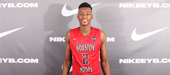 Class of 2017 forward Jarred Vanderbilt of Houston, Texas, is a proven prospect nationally. His blend of athleticism and versatility has him in the #BCSElite60. Photo cred - Jon Lopez/Nike