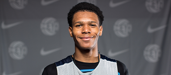 Class of 2017 guard Trevon Duval of N.J., cemented his place among the nation's best guards this year. Read more on his game here. Photo cred - Jon Lopez/Nike