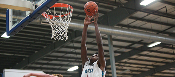 Class of 2017 post Zach Brown of Miami Beach, Fla., is one of the premier big men in the class. read about his game here. Photo cred - Jon Lopez/Nike