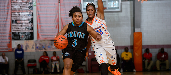 Class of 2017 guard Desiree Oliver of Verona, Penn., shined in front of coaches at #TeamPSB tourneys all year long with the WPA Bruins. Read their program review here. Photo cred - Ty Freeman/#PSBTipOffClassic