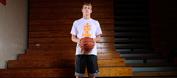 Class of 2018 Reese Robinson of Ashland, Ky., put himself on the map at the Elite Basketball Academy. His #BCSReport Player Card shows his game. Photo cred - Ty Freeman/#EBAAllAmerican