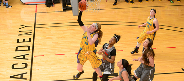 Richmond signee Ragan Wiseman of Floyd, Va., used the Nautilus Express program to propel her to greater heights. Photo cred - Ty Freeman/#PSBTipOffClassic
