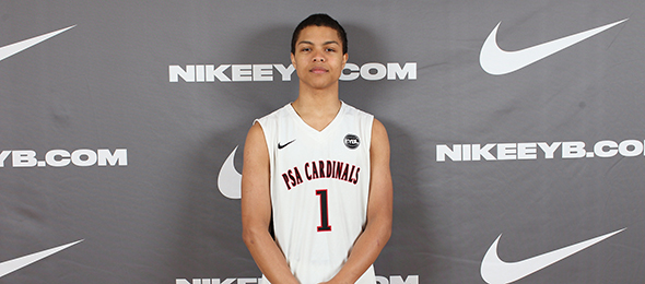 Harvard signee Bryce Aiken of N.J., is a one of the nation's premier floor generals. See more on his #BCSReport Player Card. Photo cred - Jon Lopez/Nike