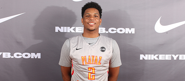 Sharp shooting Myles Powell of Trenton, N.J., is headed to Seton Hall. His game on his #BCSReport Player Card. Photo cred - Jon Lopez/Nike